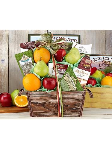Fruit and Favorites Gift Basket