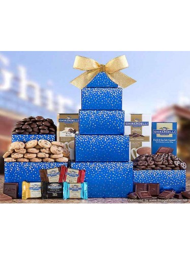 Ghirardelli Chocolate Tower Gift Basket