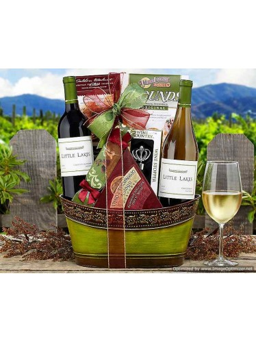 Little Lakes Cellars Double Delight Gift Basket