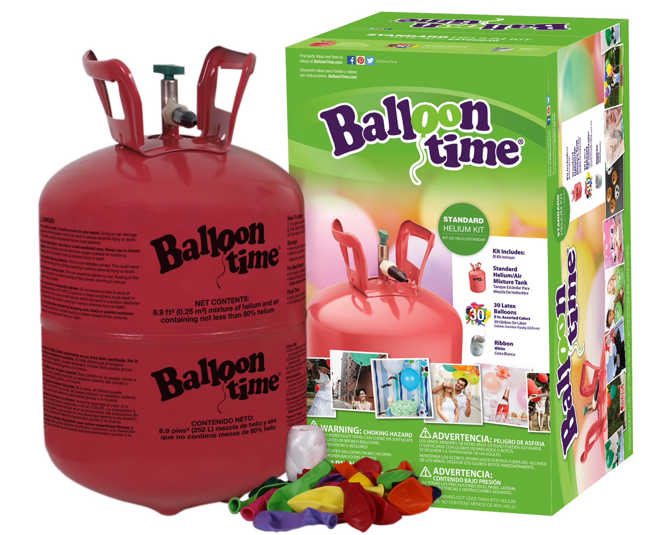 Buy Disposable Helium Tank - Balloon Time Kit with Ribbons and