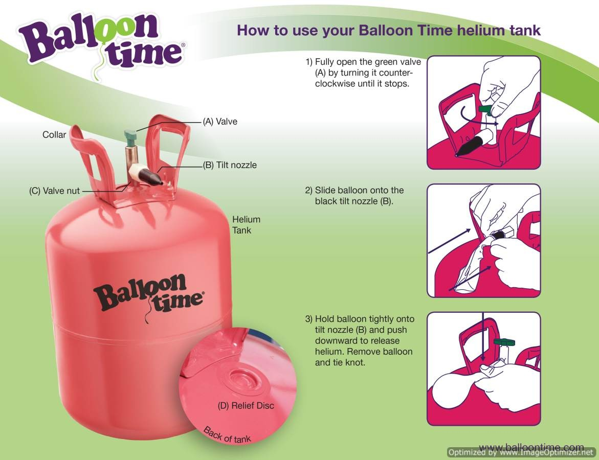 Balloon helium tank coupon