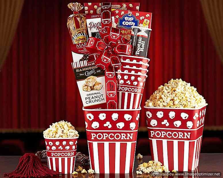 Movie Night Popcorn And Candy Collection Gift Basket