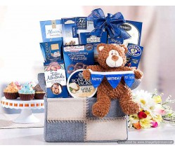 Bear Hugs Happy Birthday To You Gift Basket