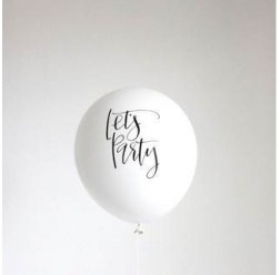 "CALLIGRAPHY LET ""S PARTY BALLOONS"