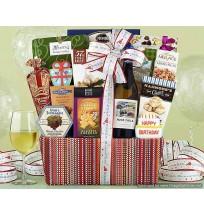 Rock Falls Chardonnay Birthday Collection Gift Basket