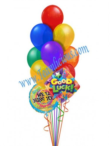 We'll Miss You Go For Good Balloon Bouquet (12 Balloons)