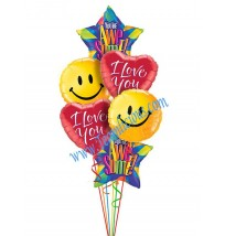 Love -O- Rama Balloon Bouquet (6 Balloons)