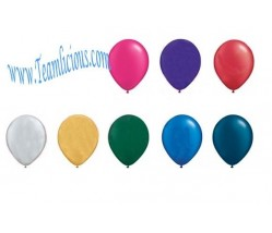 12 Inch Metallic Latex Uninflated Balloon (100 Balloons)