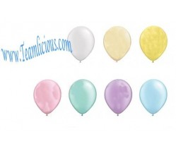 12 Inch Metallic Silk Latex Uninflated Balloon (100 Balloons)