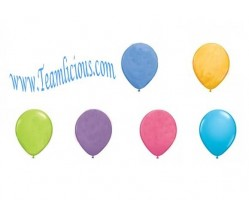 12 Inch Party Mate Pastel Latex Balloon (100 Balloons)