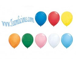 12 Inch Party Mate Standard Latex Uninflated Balloon (100 Balloons)