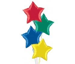 4 Star Balloon Bouquet