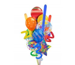 Blast Good Luck Balloon Bouquet  (12 Balloons)