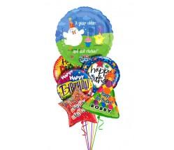 Celebrity Singing Balloon Bouquet  (6 Balloons)