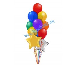 Colorful Anniversary Balloon Bouquet   (12 Balloons)
