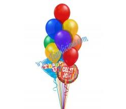 Excellent Good Job Balloon Bouquet (12 Balloons)