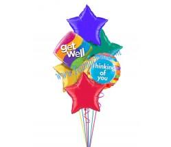 Feel Better Star Balloon Bouquet (6 Balloons)