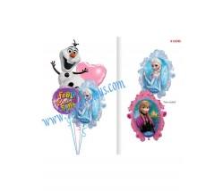 Frozen Feel Better Disney Balloon Bouquet (4 Balloons)
