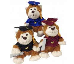"Graduation Monkey Teddy Bear – 10"" Grad"