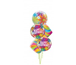 Happy Birthday Bubble Balloon Bouquet
