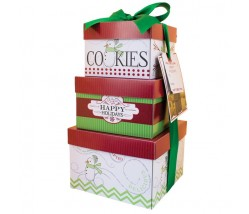 Sweet Happy Holiday Gift Tower