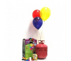 Disposable Helium Tank With Balloon and Ribbon (30 Balloons)