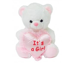 9'' ITS A GIRL – Pink Bear