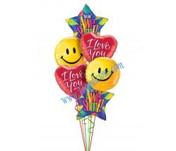 Love -O- Rama Balloon Bouquet (6 Balloons)