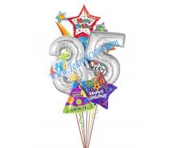 Mega Blast Birthday Balloon Bouquet  (7 Balloons)