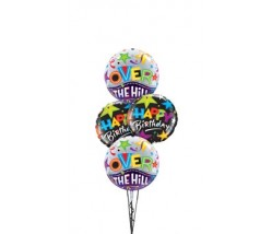 Happy Birthday Over The Hill Balloon Bouquet Delivery ( 4 Balloons )