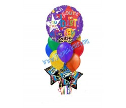 Singing Grad Balloon Bouquet  (12 Balloons)