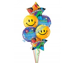 Smiley Retirement Balloon Bouquet (6 Balloons)