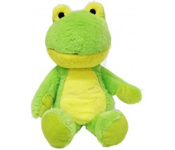 15'' STUFFED FROG WITH EMBROIDERY EYES