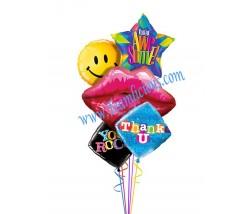 Thank You Love Balloon Bouquet (5 Balloons)