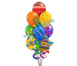 Welcome Blast Balloon Bouquet (9 Balloons)