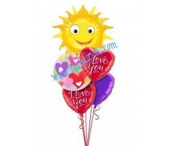 You'r  My Sunshine  Love Balloon Bouquet (5 Balloons)
